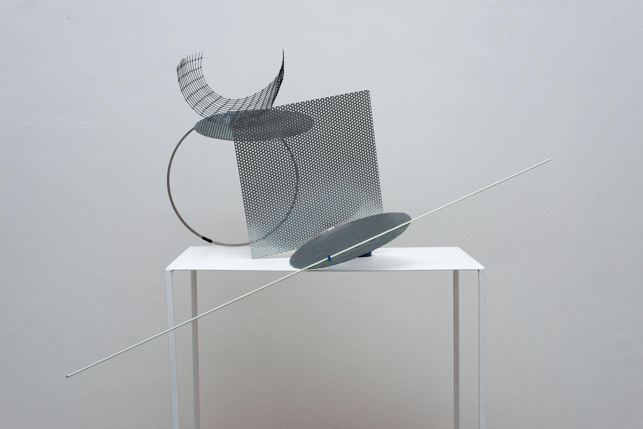 Alice Cattaneo, 'Untitled', 2015, Iron, paint, cable ties, plastic mesh, fiberglass rod, scotch 180 x 80 x 50 cm ca. Courtesy Galleria Marie-Laure Fleisch and the artist. Photo: Giorgio Benni.