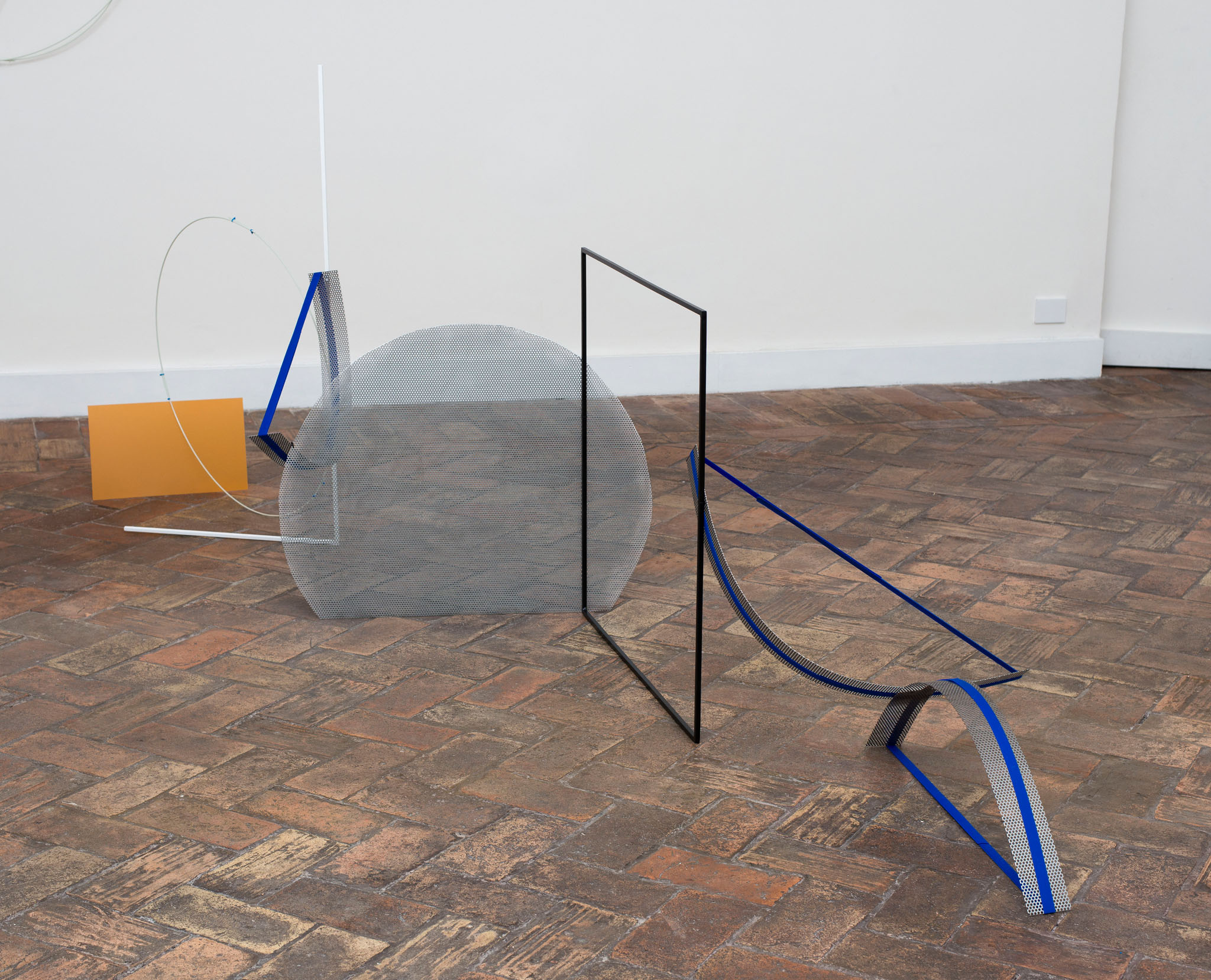 Alice Cattaneo, 'Untitled', 2015, Iron, paint, fiberglass, cable ties, plastic, velcro 140 x 300 x 150 cm .ca. Courtesy Galleria Marie-Laure. Photo: Giorgio Benni.