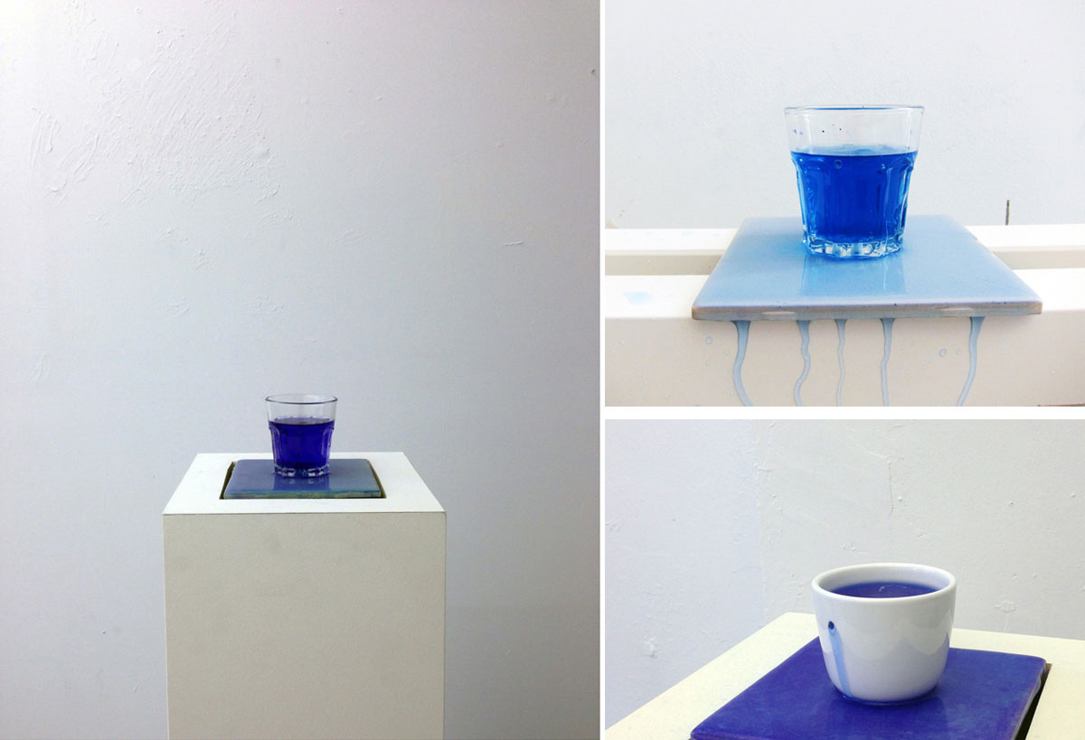 Keren Benbenisty, 'Avec le Vide, Les Pleins Pouvoirs (With the void, full powers)', 2013, Kinetic installation, pump, blue ink, water, porcelain, glassware, pedestal, variable dimensions. Courtesy the artist.
