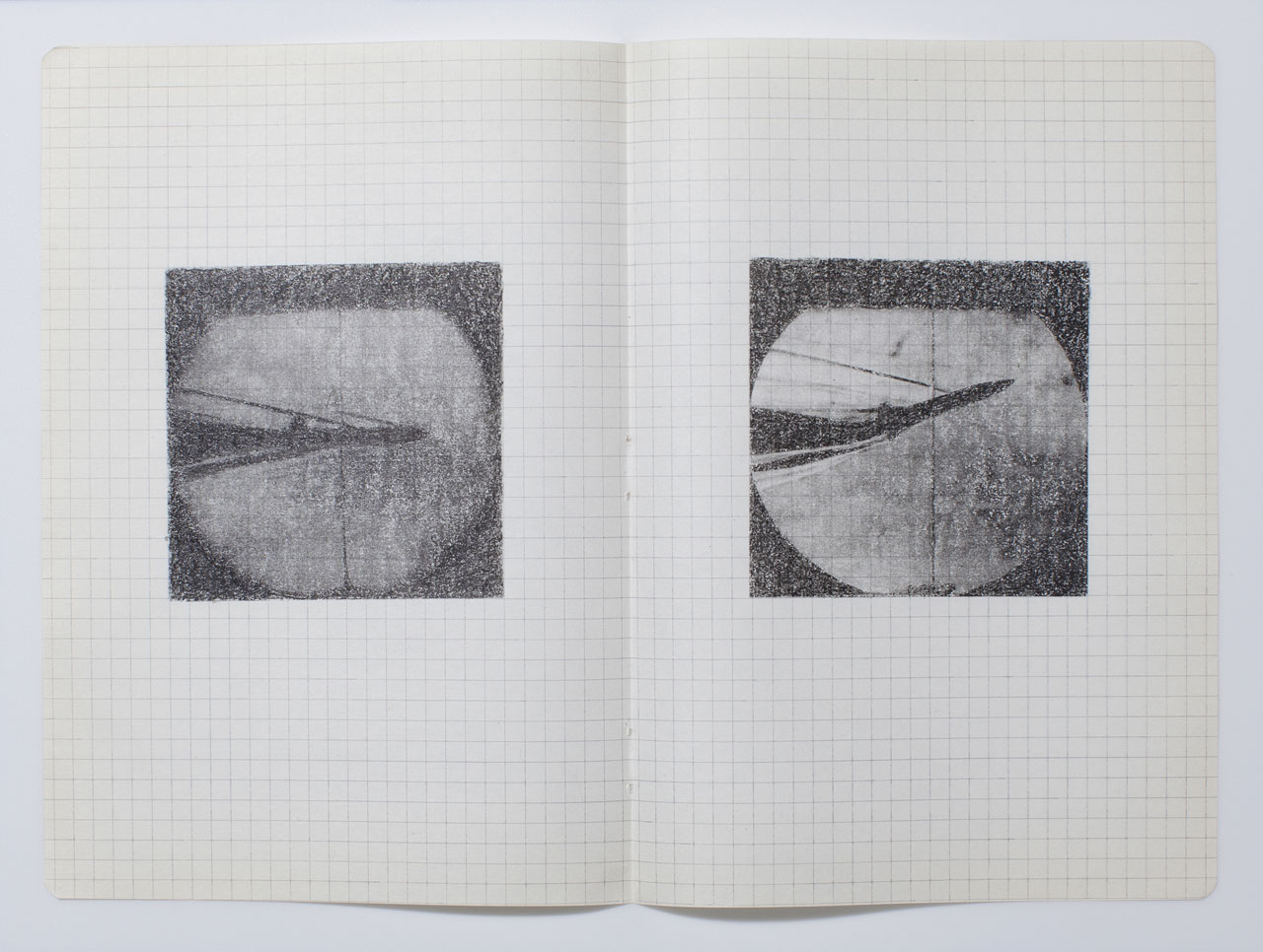 Hajra Waheed, KH-21, Notes 4/32, 2014, Xylene Transfer & Graphite on Paper. Image courtesy the artist.