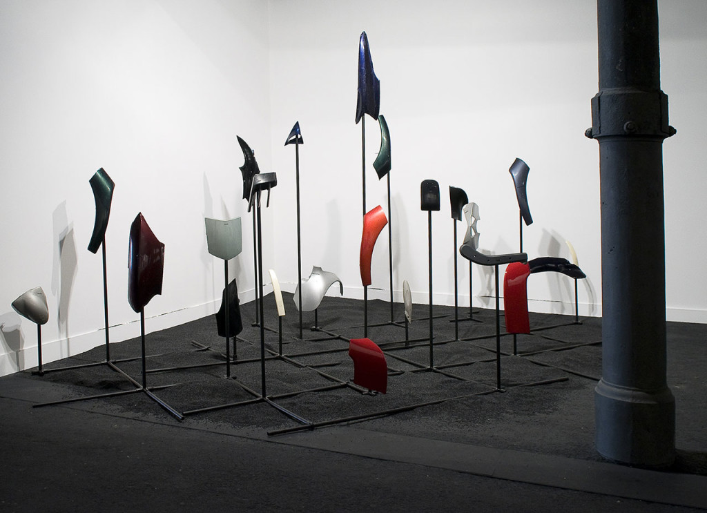 "Stanislao Di Giugno, 'A Sense of Displacement', 2009, iron and plastic, dimensions variable. Installation view of ""Re-generation"", Macro, Rome, Italy, 2012. Photo: Giorgio Benni. Image courtesy the artist, MACRO and Galleria Tiziana Di Caro."
