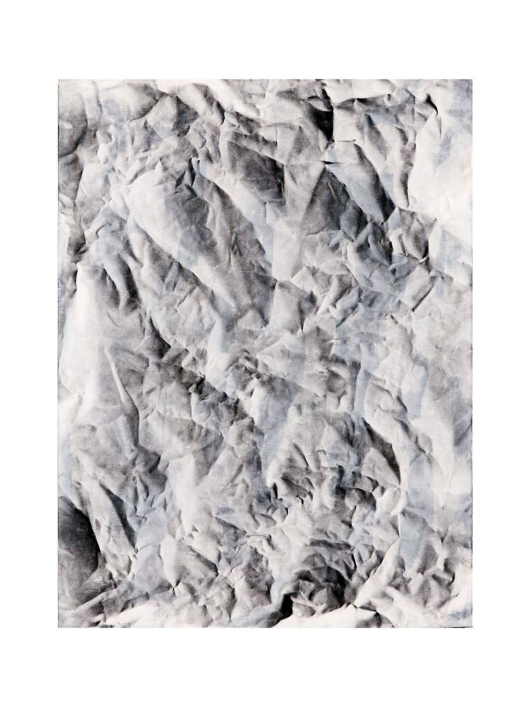 Stanislao Di Giugno, 'Painting for Empty Spaces #4', 2014, mixed media on paper on burlap, cm. 100 x 80. Photo: Davide Franceschini. Image courtesy the artist and Galleria Tiziana Di Caro.