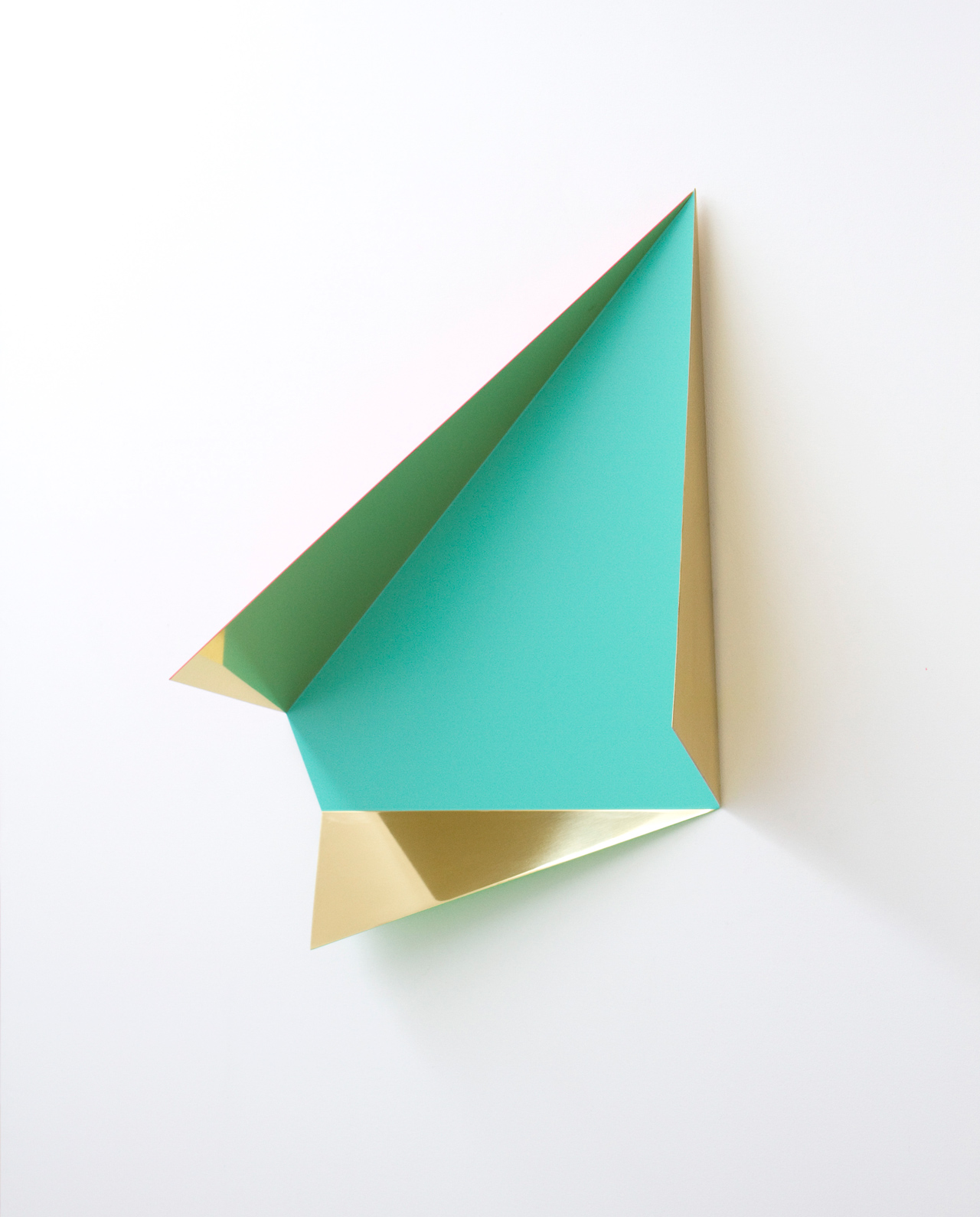 Rana Begum, 'No. 356', 2012, Paint on mirror finish brass, 56 x 62 x 20 cm. Image courtesy the artist and The Third Line.