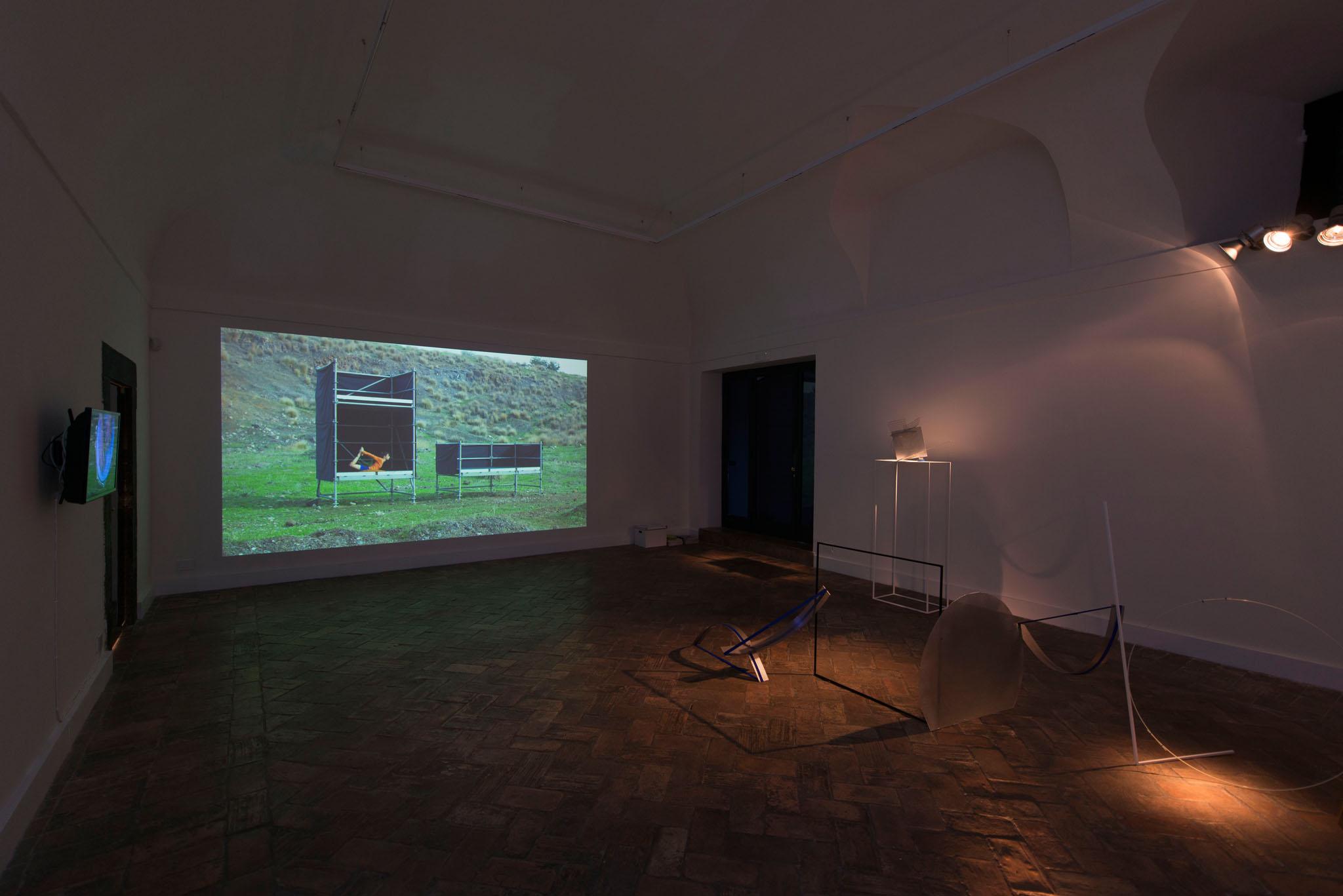 Tensioni E-Statiche, 2015, Installation view at Galleria Marie-Laure Fleisch. Courtesy Galleria Marie-Laure Fleisch and the artists. Photo: Giorgio Benni.