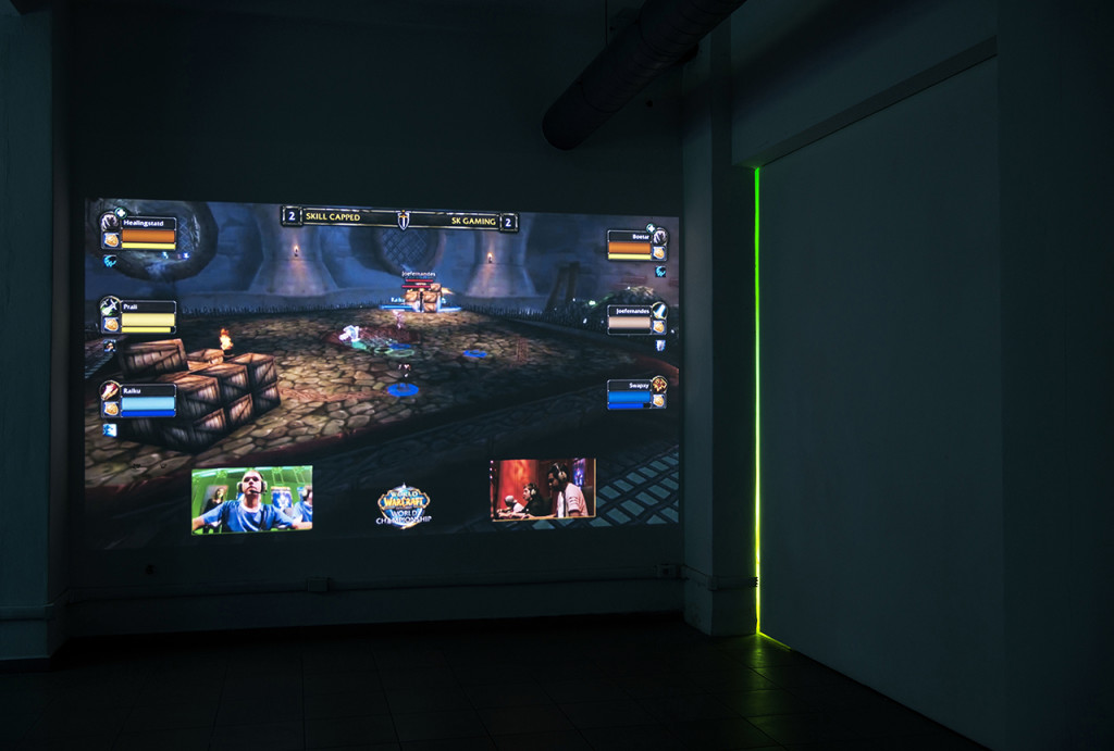 Marco Strappato, 'W.o.W – Grand Final '15', 2015, mp4, laptop, active speakers, projection, loop, size variable. Image courtesy the artist and The Gallery Apart.