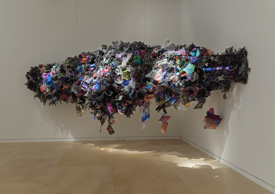 Aaditi Joshi, 'Untitled', 2016, fused plastic bags, acrylic paint, LED lighting, wooden armature, 108 x 78 x 288 in (approx). Photo: © Museum of Fine Arts, Boston. Image courtesy the artist and Gallery Maskara.
