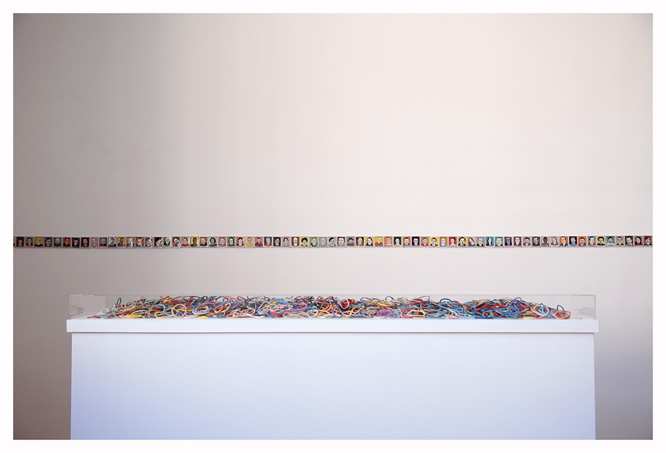 """Davide Monaldi, installation view of """"Davide Monaldi"""" at Studio SALES di Norberto Ruggeri, 2015. Image courtesy the artist and Studio SALES di Norberto Ruggeri."""