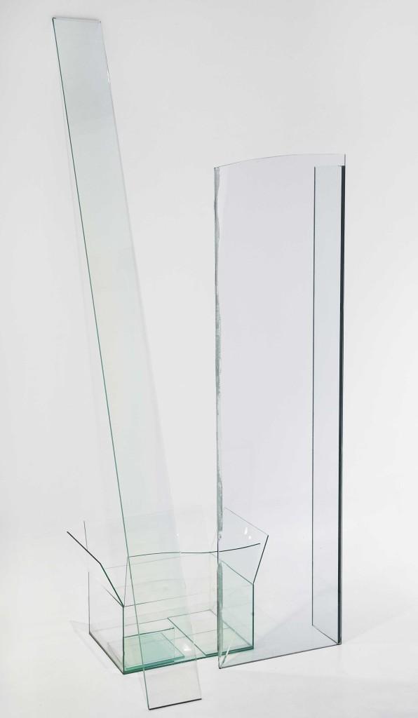 Michela de Mattei, 'Ingombro#2', 2014, thermoforming and UV bonding float glass, 142 x 72 x 72 cm. Photo: M3Studio. Image courtesy Ex Elettrofonica.
