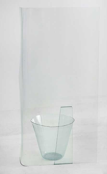Michela de Mattei, 'Ingombro#1(ricordarsi di innafiare limone)', 2014, thermoforming float glass, 110 x 52 x 33 cm. Photo: M3Studio. Image courtesy Ex Elettrofonica.