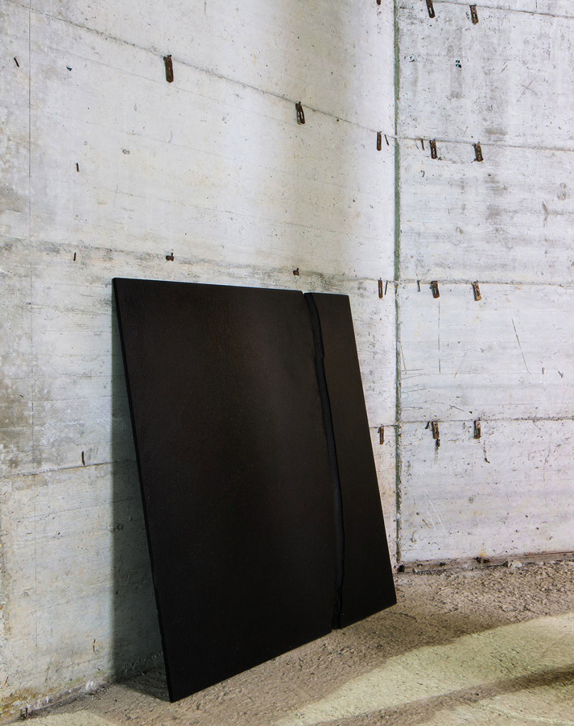 Giuseppe Pietroniro, 'Segno', 2014, blackboard and olive oil, 150 x 80 cm. Photo: altrospazio. Image courtesy There Is No Place Like Home.