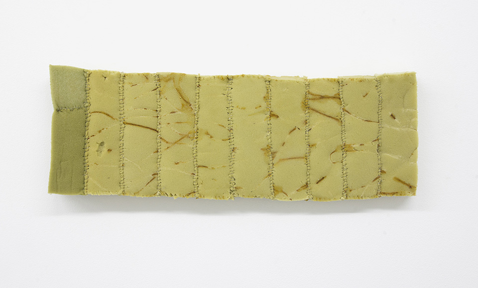 Bronwyn Katz, 'Untitled (Brief 3)' (2016) | Foam, rusted wire, 23 x 66 x 7 cm