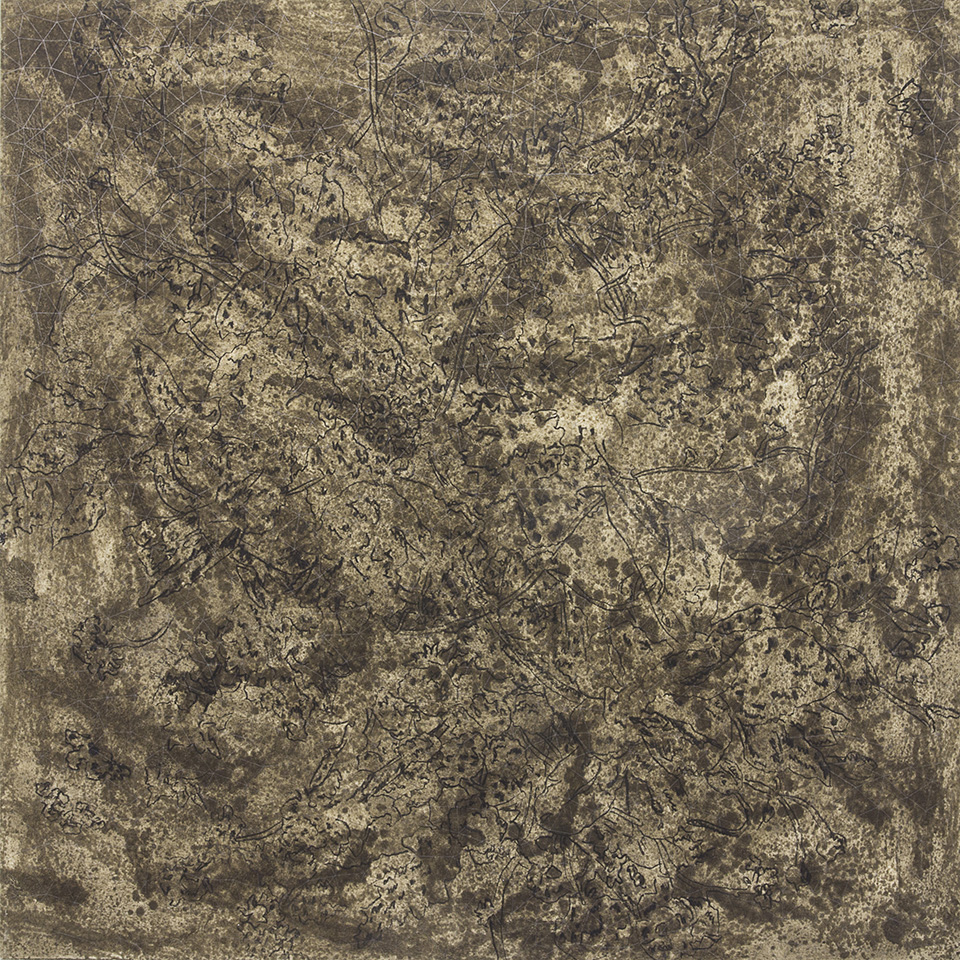 Cinga Samson, Ivumba Letyatyambo 10(2016), Oil and charcoal on canvas, 150 x 150cm