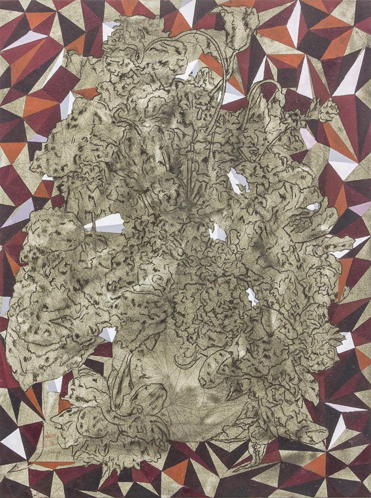 Cinga Samson, Ivumba Letyatyambo 5 (2016), Oil and charcoal on canvas, 80 x 60cm