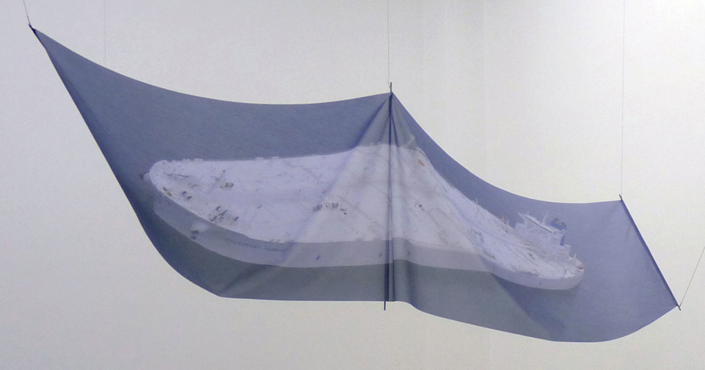 Manolis Daskalakis-Lemos, 'Hellespont Fairfax', 2014, C-Print on flag textile, 300 x 84 cm. Image courtesy the artist and CAN Gallery, Athens.