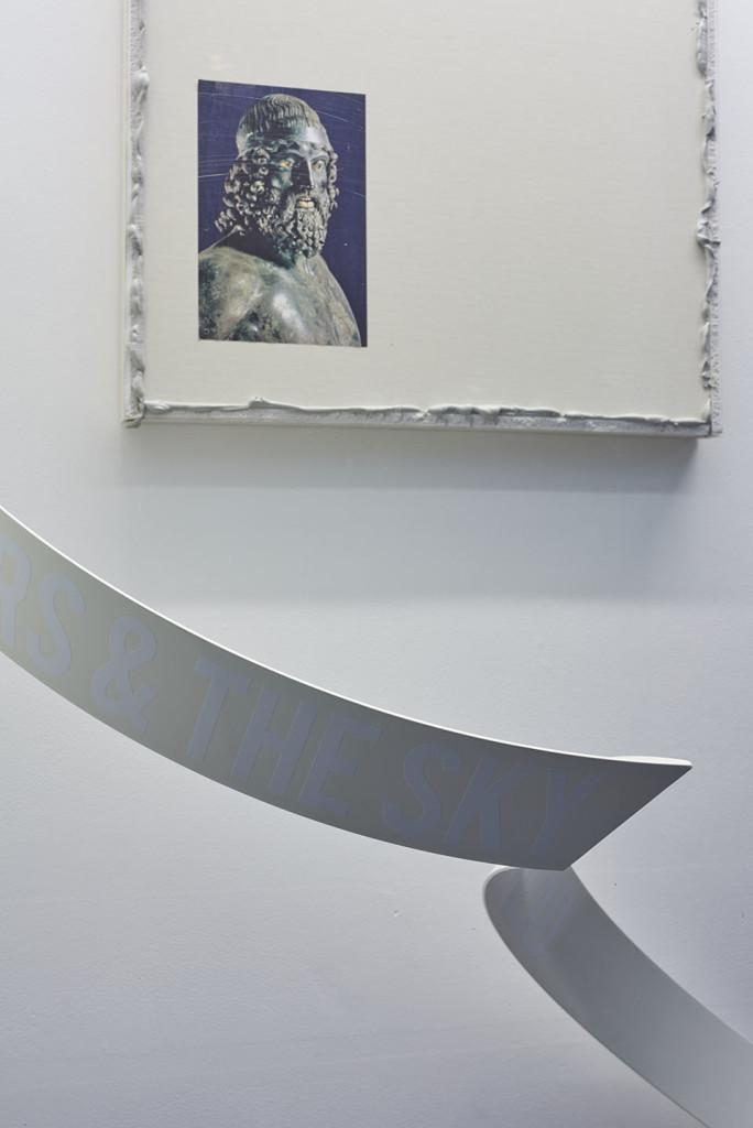 (Above) Paul Merrick, 'Untitled (Warrior)' (detail), 2015; and (below) Aethan Wills, 'PINK SAKURA (BLACK RAIN)' (detail), 2016.